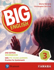 Big English 3 - 2nd Edition - Workbook with PTE Young Learners