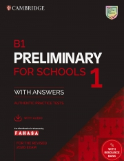 Cambridge B1 Preliminary for Schools 1 - For the revised 2020 exam (kèm code online)
