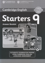 Cambridge English - Starters 9 - Answer Booklet